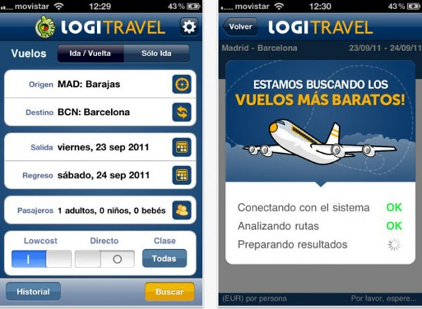 Logitravel, cómo reservar vuelos de avión en el último minuto desde el iPhone o el iPad