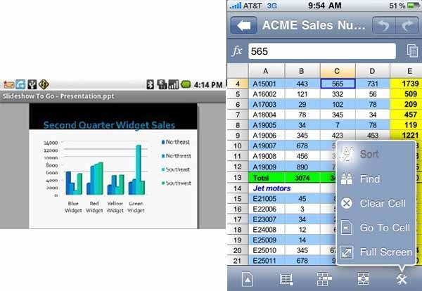 Documents To Go, visualizar, editar y crear archivos de Office desde el móvil