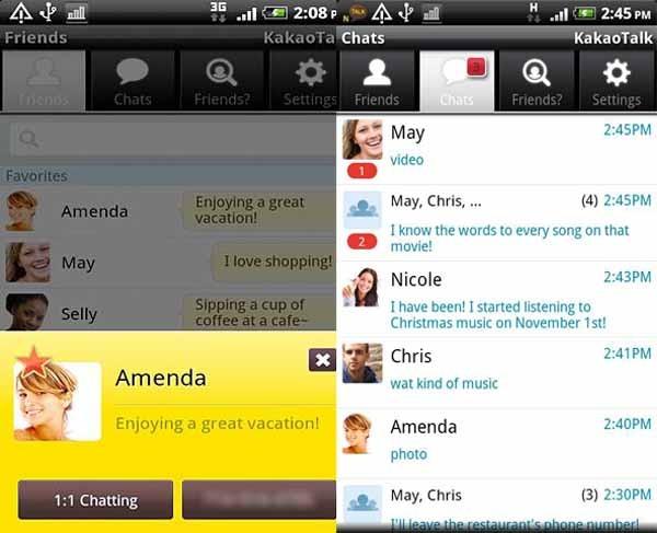 Kakaotalk, comunícate gratis con tus amigos desde iPhone y Android
