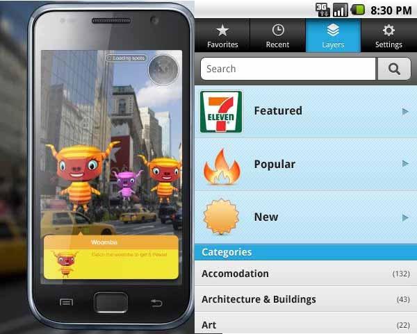 Layar 5.0, realidad aumentada gratis en iPhone y Android