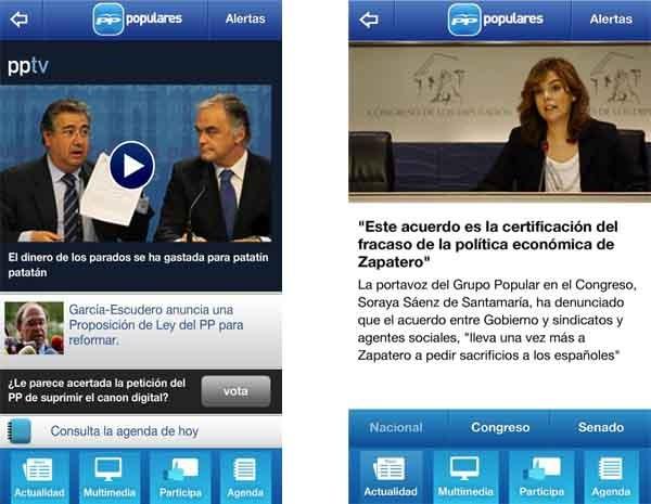 Partido Popular, toda la información en tu móvil de cara a las elecciones municipales del 2011