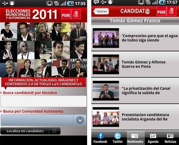 PSOE, sigue al partido en tu móvil de cara a las elecciones municipales del 2011