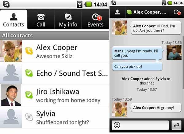 Skype, llama gratis desde el móvil a través de Internet