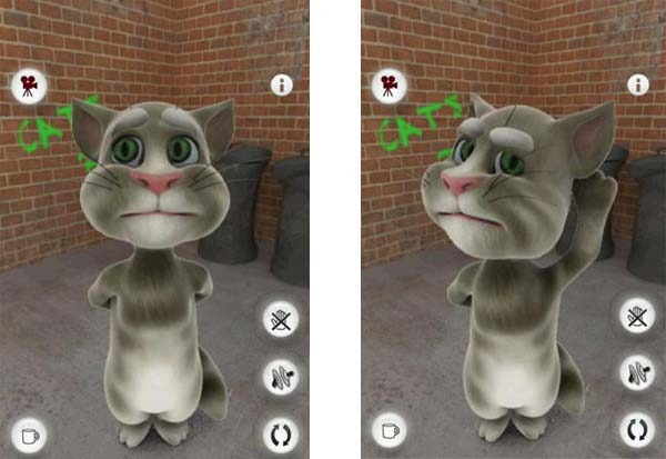 talking tom cat android gato