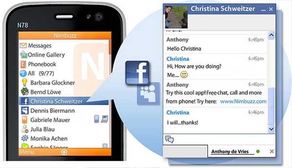 Nimbuzz Mobile, llama, chatea y envía mensajes gratis desde el móvil