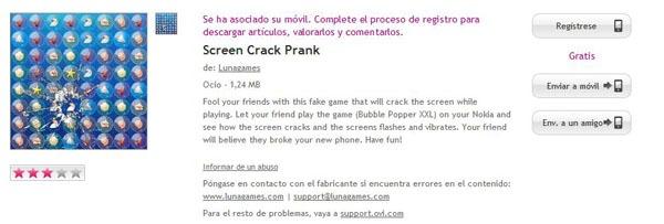Screen Crack Prank, haz que tus amigos crean que se te ha roto la pantalla del móvil