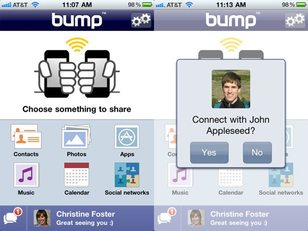 Bump, comparte fotos, contactos y apps con un simple gesto desde tu móvil Android o iPhone