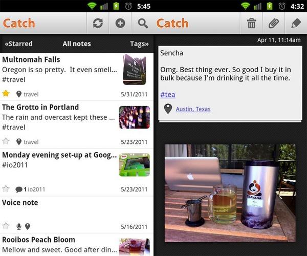 Catch Notes, un completo bloc de notas de bolsillo para dispositivos Android, iPhone y iPad