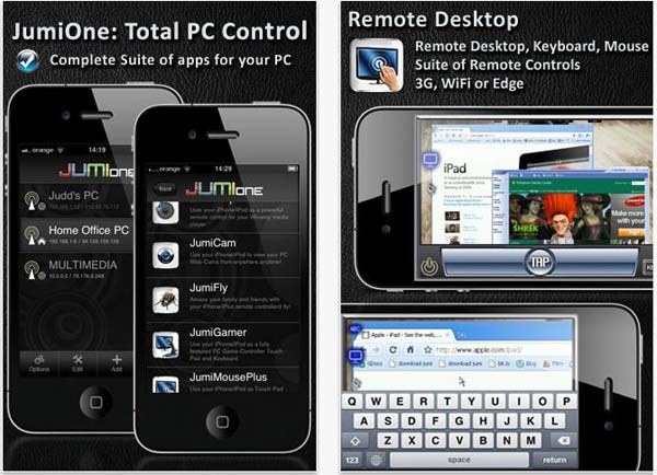 JumiOne, controla el ordenador desde tu iPhone