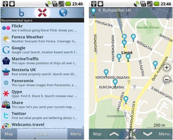 Locago, un navegador GPS con capas de información sobre el terreno para móviles