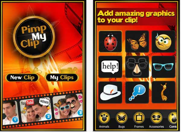 Pimp My Clip, añade efectos divertidos a tus videos con iPhone