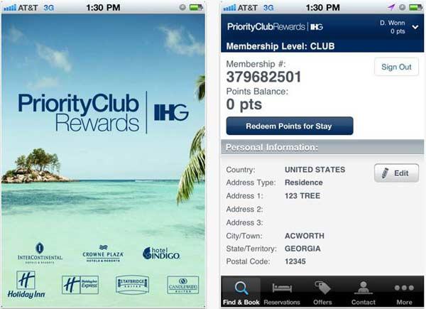 Priority Club Rewards, reserva en cualquier hotel de la cadena IHG desde iPhone