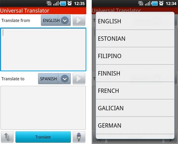 Traductor Universal, un traductor de bolsillo con 49 idiomas para móviles Android