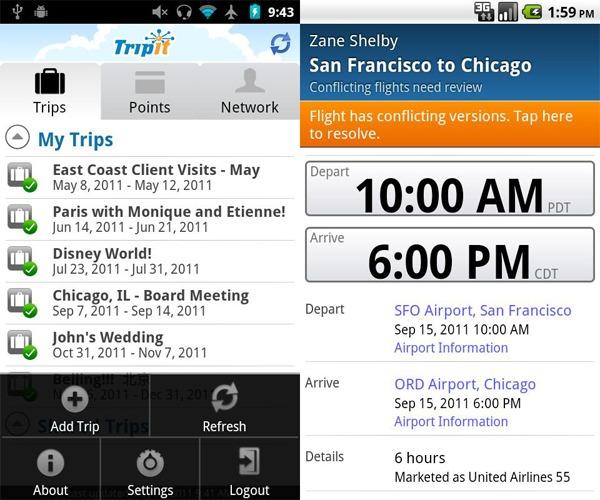 TripIt, organiza todos los pasos de tus viajes desde tu móvil Android, iPhone, iPad o BlackBerry