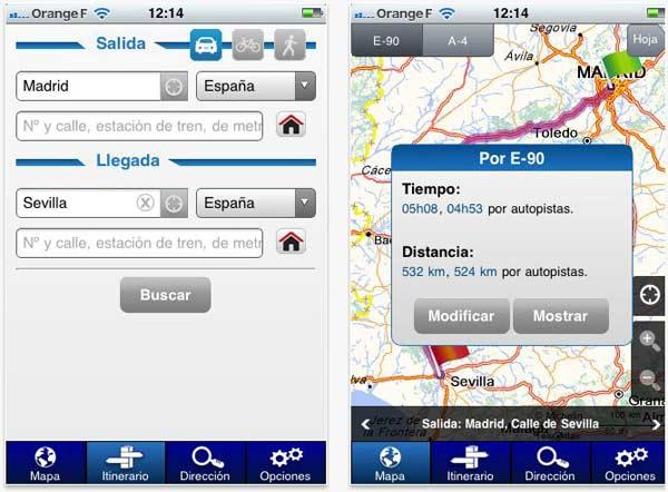 ViaMichelin Mobile, calcula el itinerario de tu viaje con esta aplicación