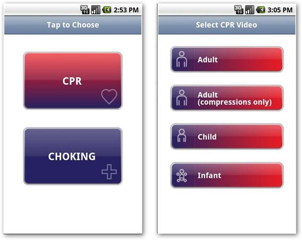 CPR-Choking, aprende a prestar primeros auxilios con esta aplicación para móviles Android