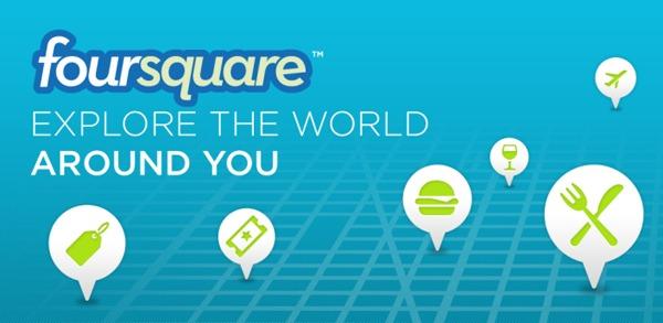 Foursquare, nueva actualización con nuevo botón para usuarios de móviles Android