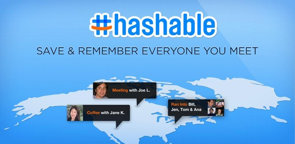 Hashable, un completo diario de tus citas y conocidos para móviles Android y iPhone