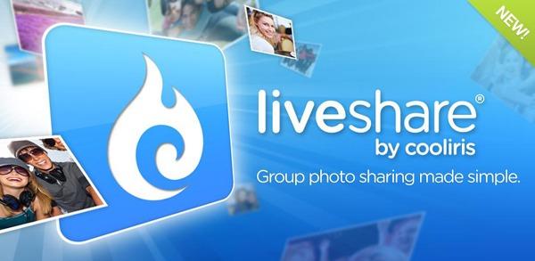 LiveShare Group photo sharing, comparte fotos entre grupos de amigos desde el móvil