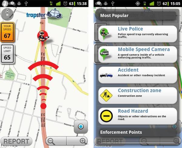 Trapster, conoce el estado de las carreteras y los controles de la policía con esta aplicación