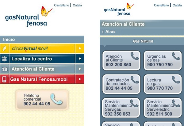 Gas natural fenosa conoce tu consumo desde el m vil for Oficina gas natural sabadell