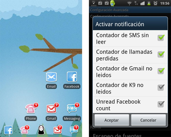 GO Launcher EX Notification, conoce todas las notificaciones