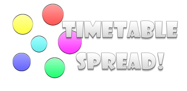 Horario de clases TimeSpread!, crea tus propios horarios