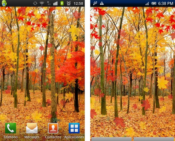 Maple Leaf Live Wallpaper, personaliza tu móvil Android con este fondo otoñal