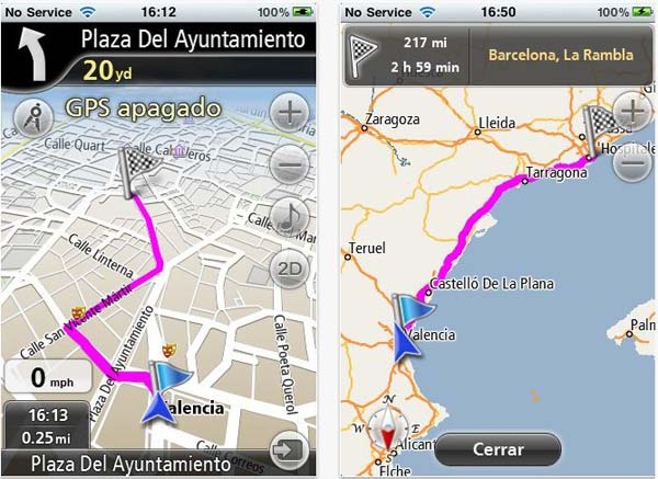 Navfree, un GPS gratuito para iPhone