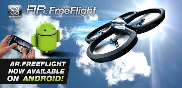 AR.FreeFlight, vuela tu Parrot Drone ahora desde un Android