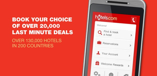 Hoteles.com, busca y reserva hoteles en tu Android o iPhone