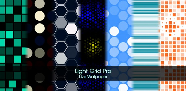 Light Grid Live Wallpaper, personaliza tu móvil Android