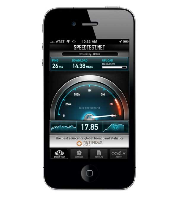 Speedtest.net Mobile Speed Test, mide la conexión de tu móvil