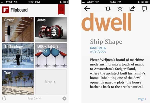 Flipboard, el lector de noticias social ahora para iPhone