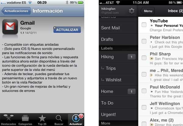 gmail 1.1 iphone