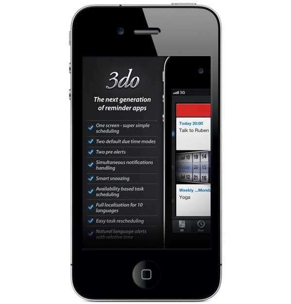 3DO, un organizador de tareas y recordatorios para iPhone