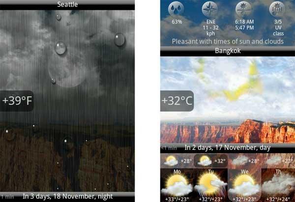 Animated weather widget clock el tiempo en android for Widget tiempo android