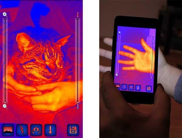 Cámara térmica, un sensor de calor para móviles Android ...