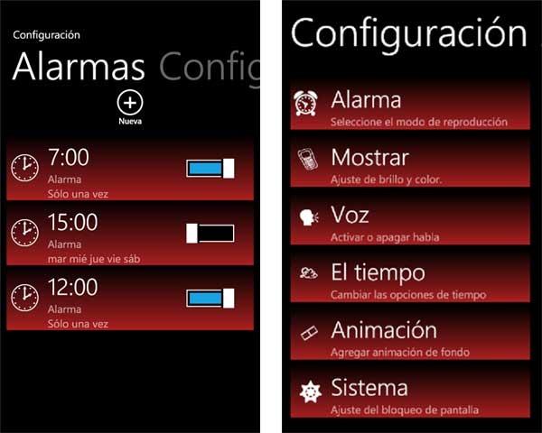 free talking alarm clock reloj y alarma para windows phone. Black Bedroom Furniture Sets. Home Design Ideas