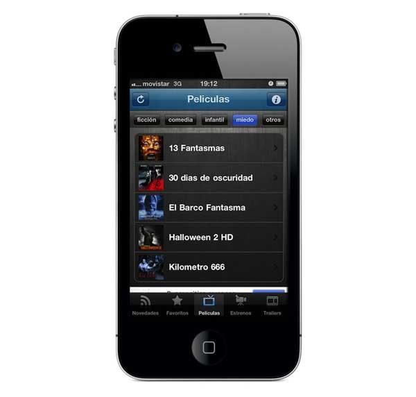 Movies and Trailers, películas gratis para ver desde iPhone