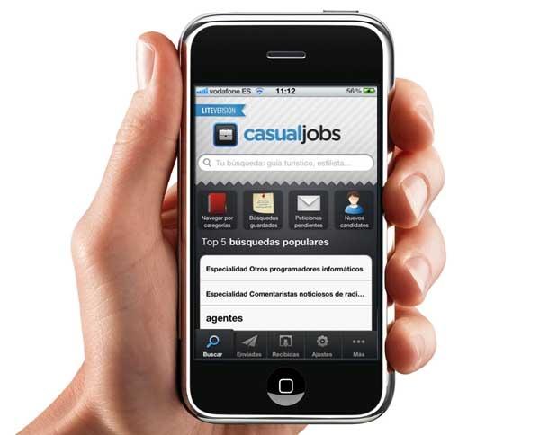 CasualJobs, encuentra trabajo y profesionales con tu iPhone