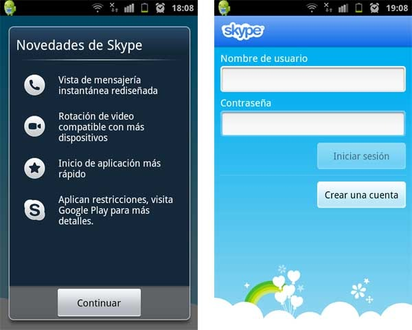 skype 2.8 android