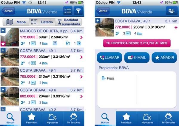 Bbva vivienda encuentra casa desde tu android o iphone - Pisos de bancos bbva ...