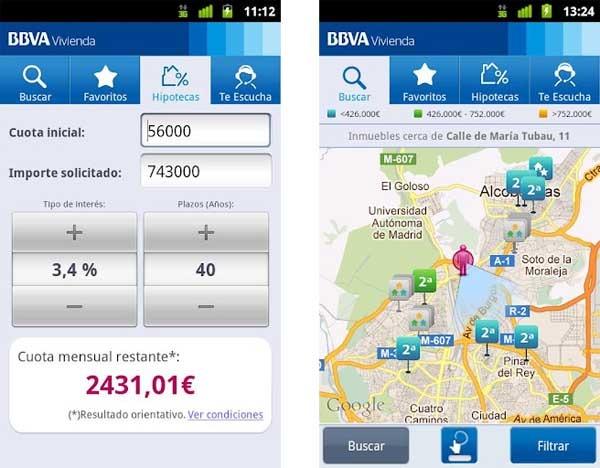Bbva vivienda encuentra casa desde tu android o iphone for Casas del banco bbva