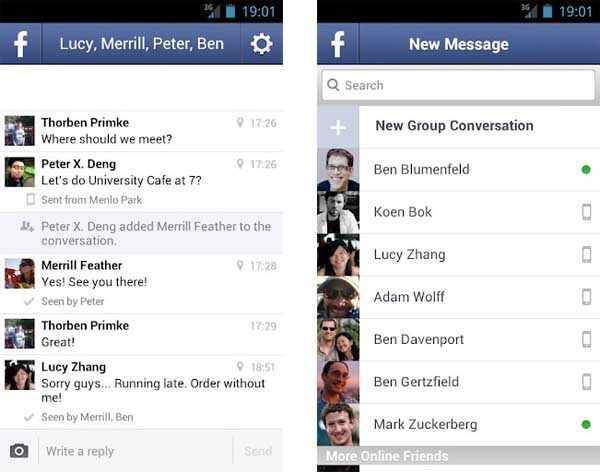 facebook messenger Android 1.7.002