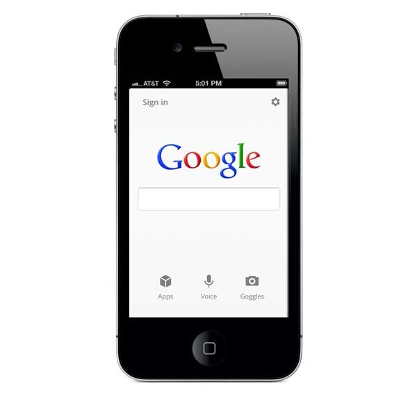 Google Search 2.0, rediseño de este buscador para iPhone