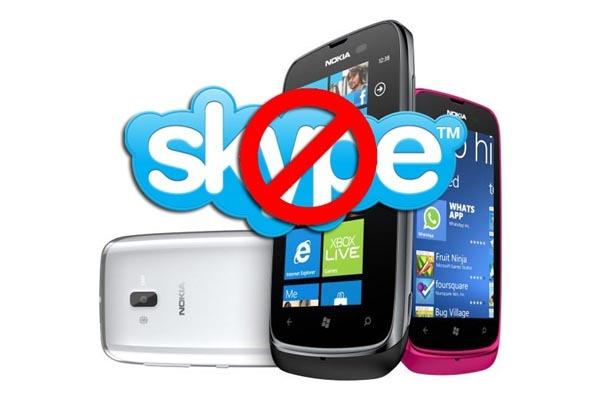 Finalmente no habrá Skype para el Nokia Lumia 610