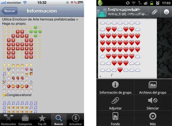 Emoji Art Envía Dibujos Hechos Con Emoticonos Desde Iphone