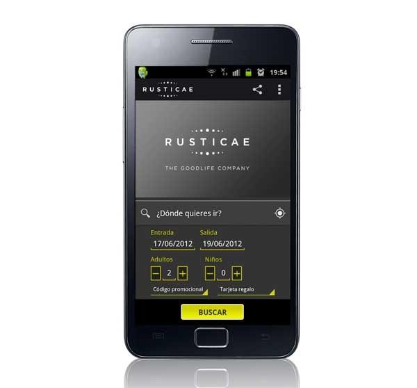 Rusticae, busca hoteles con encanto desde tu Samsung