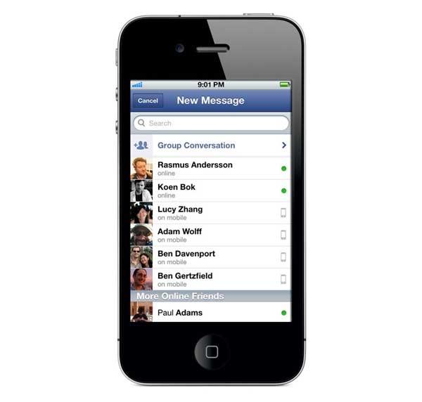 Facebook Messenger, con fotos más grandes y más contactos